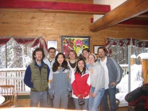 2007 L3 retreat - Whistler Aaron Bogutz, Mo Mandegar, Rose Oh-McGinnis, Rachel Elves, Connie Lee, Meg Jones, Julie MacIsaac, Louis Lefebvre