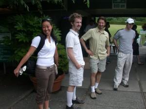 2004 MedGen Golf Tournament Francine Ling, Aaron Bogutz, Louis Lefebvre, and Michael Peirce